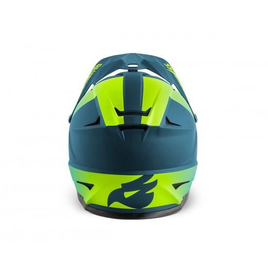 Каска FullFace Met Intox - Petrol blue - Fluo yellow Matt - M - Petrol blue - Fluo yellow Matt - M - на супер цена 220.00лв